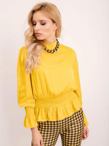 BSL Żółta elegancka bluzka