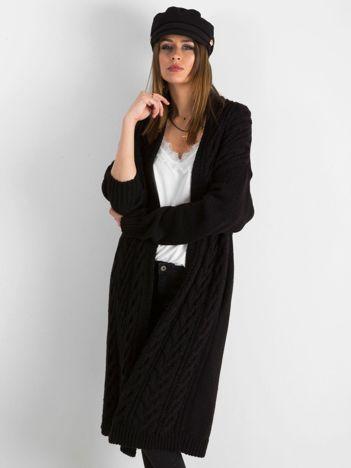 BY O LA LA Czarny długi sweter