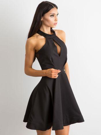 BY O LA LA Rozkloszowana sukienka czarna