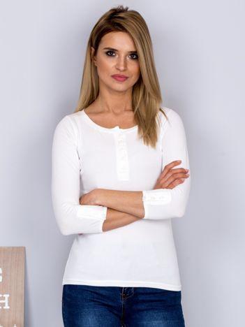 Bawełniana bluzka z guzikami ecru