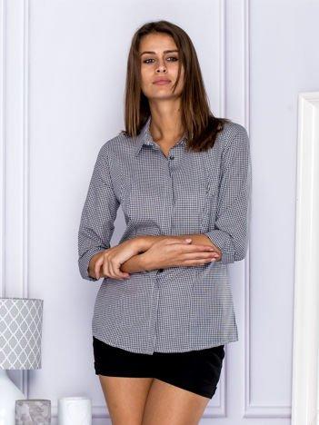 Bawełniana koszula w kratkę czarna