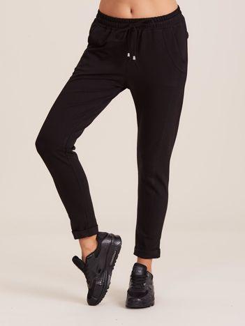 Bawełniane dresowe spodnie czarne