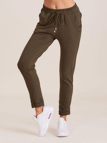 Bawełniane dresowe spodnie khaki