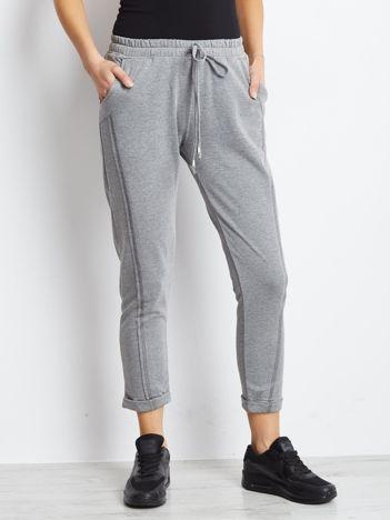 Bawełniane dresowe spodnie szare