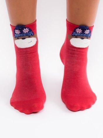 Bawełniane skarpety z motywem świątecznym