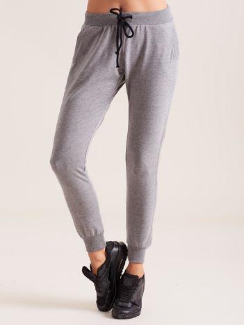 Bawełniane spodnie dresowe ciemnoszare