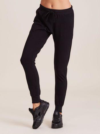 Bawełniane spodnie dresowe czarne