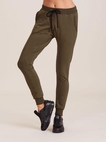 Bawełniane spodnie dresowe khaki