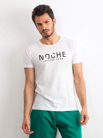 Bawełniany t-shirt męski biały