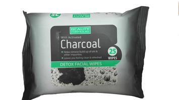 """Beauty Formulas Charcoal Chusteczki oczyszczające z aktywnym węglem  1op.-25szt"""""""