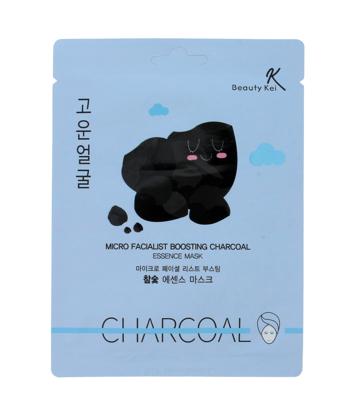 Beauty Kei Charcoal Koreańska maseczka na płacie oczyszczająca