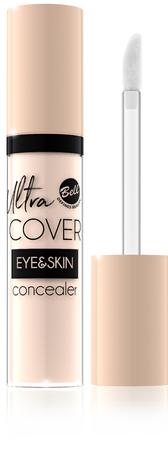 Bell Korektor intensywnie kryjący w płynie Ultra Cover Eye & Skin nr 01 Light Ivory 5g