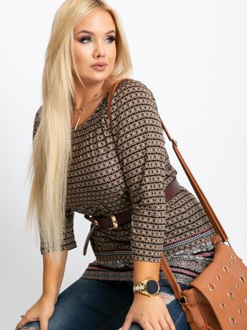 Beżowa bluzka plus size Casey