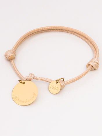 Beżowa damska bransoletka z zawieszkami z najlepszej jakości STALI CHIRURGICZNEJ 316L