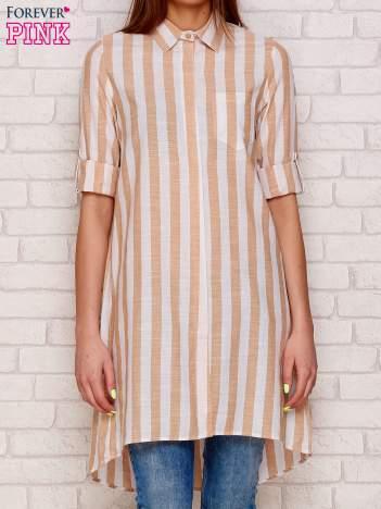 Beżowa koszula w paski