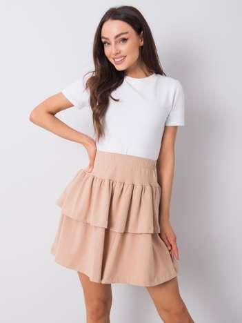 Beżowa spódnica mini z falbanami Jenny