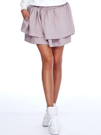 Beżowa spódnica z warstwowymi falbanami