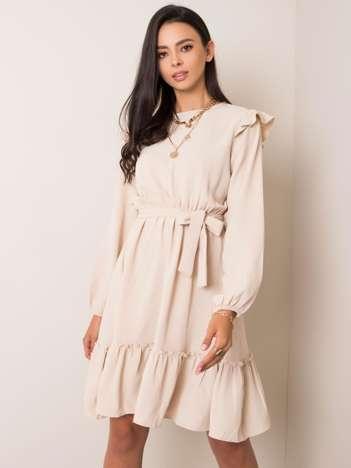 Beżowa sukienka Alyssa RUE PARIS