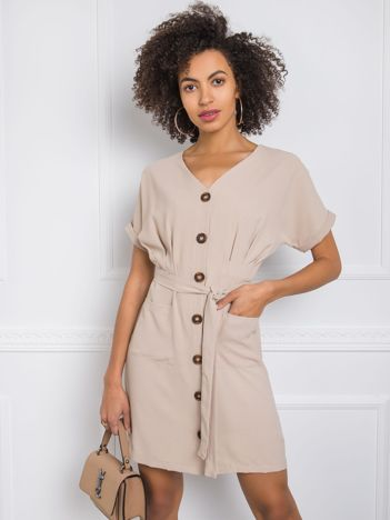 Beżowa sukienka Blake RUE PARIS