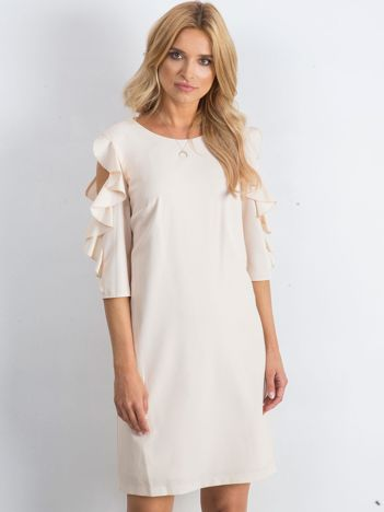 Beżowa sukienka Brilliance