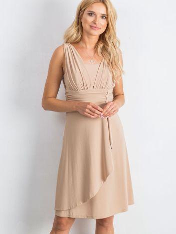 Beżowa sukienka Decorative