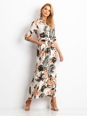 Beżowa sukienka Drop