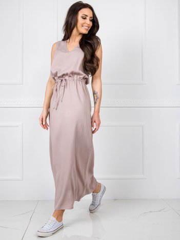 Beżowa sukienka Feel RUE PARIS