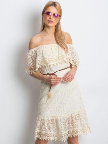Beżowa sukienka Ideally