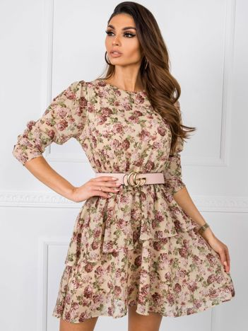 Beżowa sukienka Miracle RUE PARIS