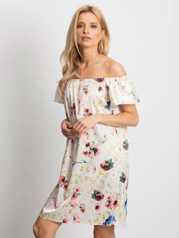 0763571418 Beżowa sukienka Perfectly