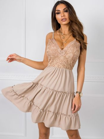 Beżowa sukienka Serafine RUE PARIS