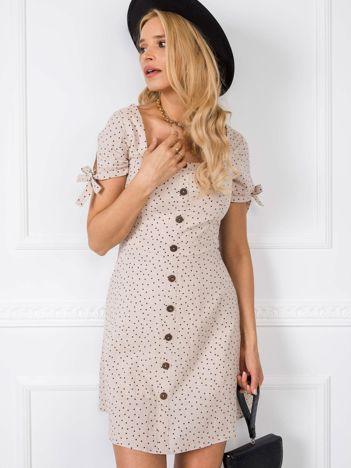 Beżowa sukienka Tilde RUE PARIS