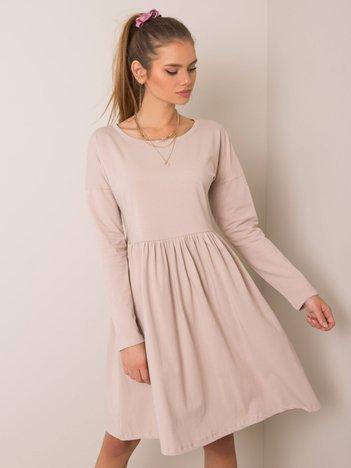 Beżowa sukienka Vega RUE PARIS