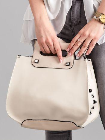 Beżowa torba city bag