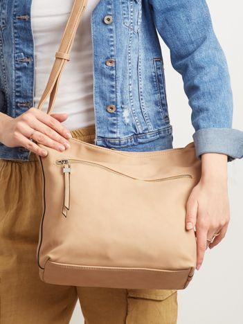 Beżowa torba na ramię