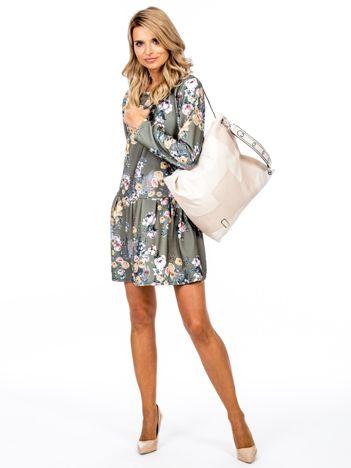 Beżowa torba-plecak z odpinanymi szelkami