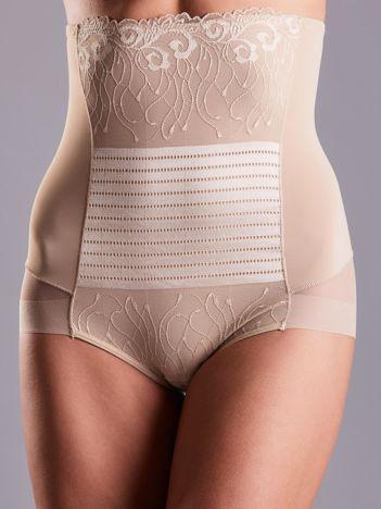 Beżowe modelujące majtki