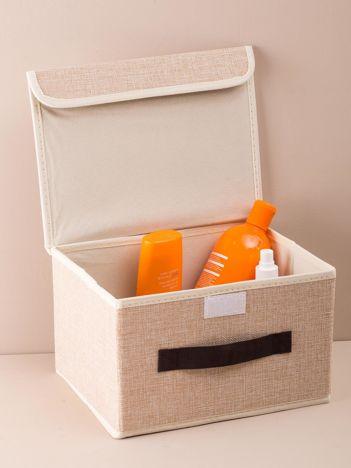 Beżowe składane pudełko do przechowywania