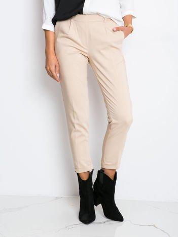 Beżowe spodnie Control