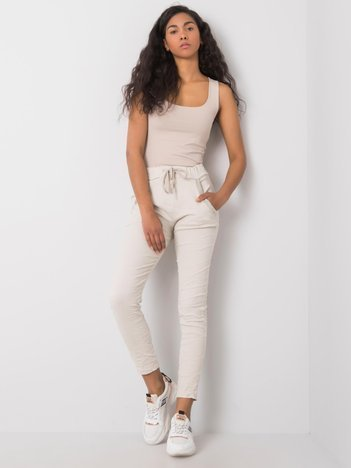 Beżowe spodnie Tia