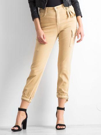 Beżowe spodnie Vintage