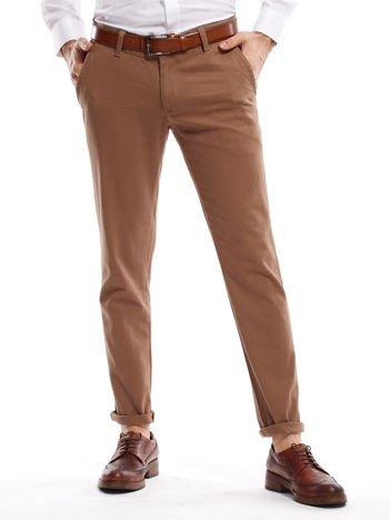 Beżowe spodnie męskie chinos