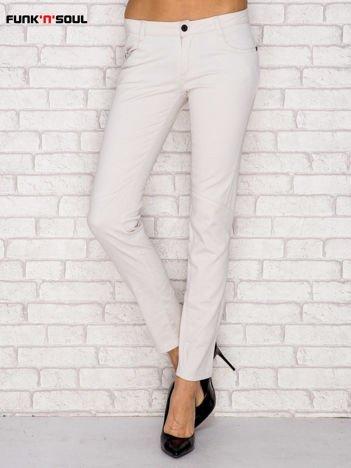 Beżowe spodnie z przeszyciami FUNK N SOUL