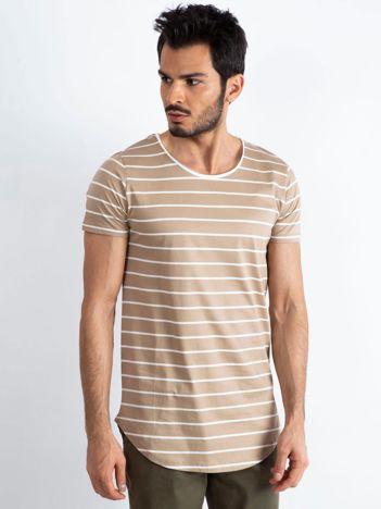 Beżowo-biały t-shirt męski Whipped