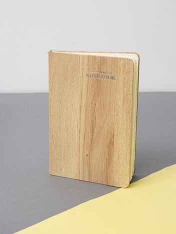 Beżowy drewniany notes