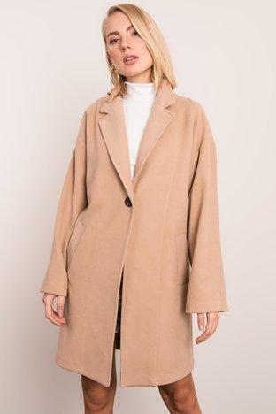Beżowy płaszcz damski BSL