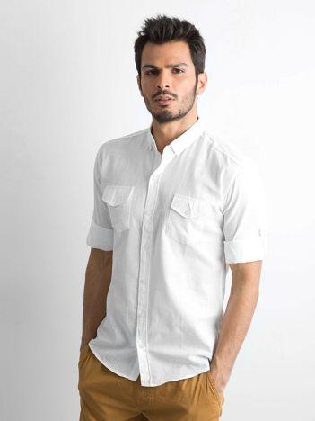 762817c65eef Biała bawełniana koszula męska