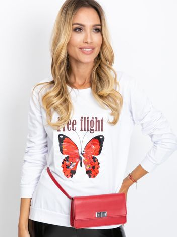 Biała bluza Butterfly