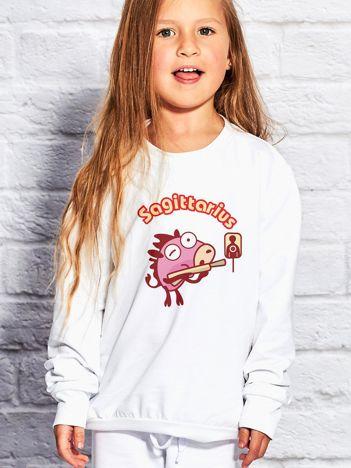 Biała bluza dziecięca znak zodiaku STRZELEC