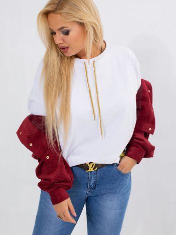 Biała bluza plus size Vacay